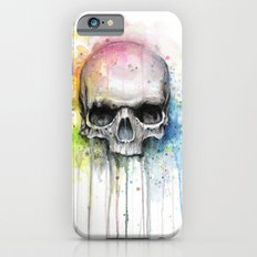 Skull Watercolor Painting iPhone 6 Slim Case