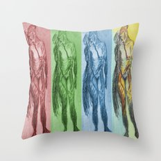 Untitled Figure Study Throw Pillow