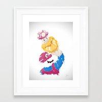 パワーアップ Framed Art Print