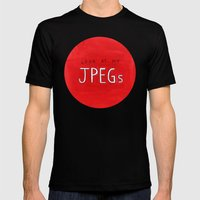 look at my JPEGs Mens Fitted Tee Black SMALL