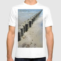 On the Baltic Sea SMALL White Mens Fitted Tee