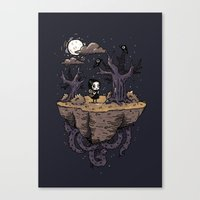 Dark Wood Canvas Print
