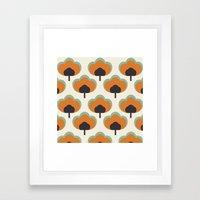 orange flowers Framed Art Print