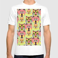 Modular Lions and Tigers and Bears. Mens Fitted Tee White SMALL