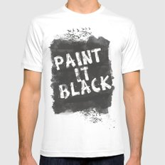 Paint It Black White Mens Fitted Tee SMALL