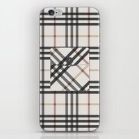 Plaid Pocket - White / B… iPhone & iPod Skin