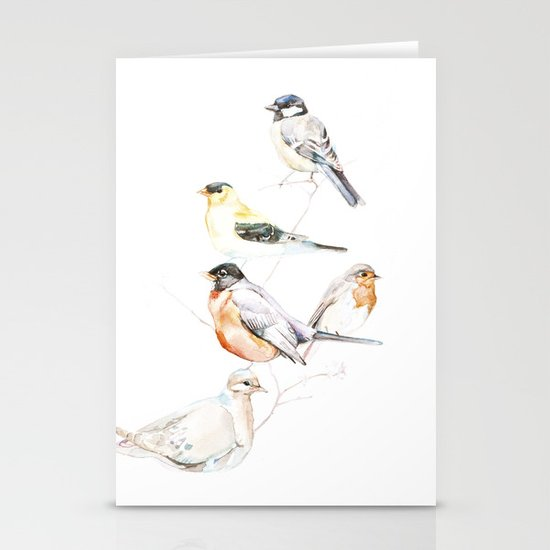 Birds of the Midwest Stationery Card