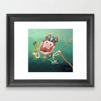 Barry The Buccaneer & Hi… Framed Art Print