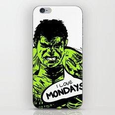 Hulk loves Monday iPhone & iPod Skin