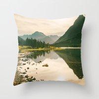 Mountain Reflecting The … Throw Pillow