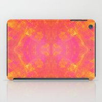 Pink and Orange Stripes iPad Case