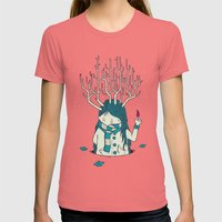 Warm Womens Fitted Tee Pomegranate SMALL