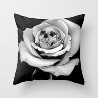 Beauty & Death Throw Pillow