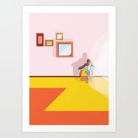 wes anderson Art Prints featuring Wes Anderson  by marcus marritt