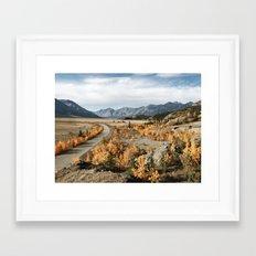 Fall Yukon Valley Framed Art Print
