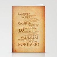 Viking Prayer Stationery Cards