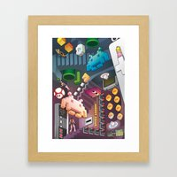 Lost in videogames Framed Art Print