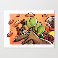 -Little Red Riding Hood-… Canvas Print