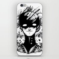 Guardians of the Woods (Black & White Version) iPhone & iPod Skin