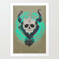 A KING IN DEATH Art Print