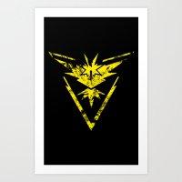 Team Instinct Grunge Art Print