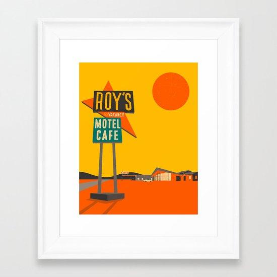 Roys Cafe, Route 66 Framed Art Print
