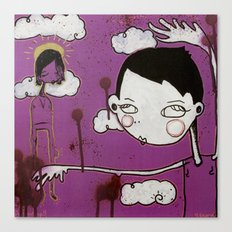 Purple Girl Canvas Print