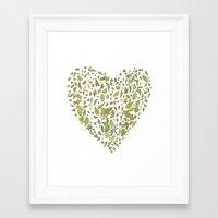 Nature Heart Framed Art Print