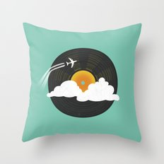 Sunburst Records Throw Pillow