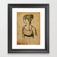 Elizabeth Bennet Framed Art Print
