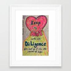 Proverbs 4:23 (KJV) Framed Art Print
