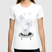 Launch Pad Womens Fitted Tee White SMALL