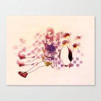 Penguin Playtime Canvas Print