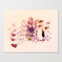 Penguin Playtime Canvas Print