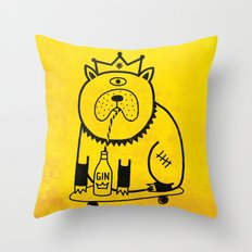 My dog loves gin Throw Pillow