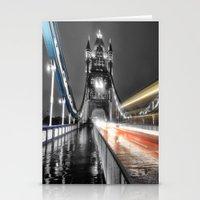 Tower Bridge at night Stationery Cards