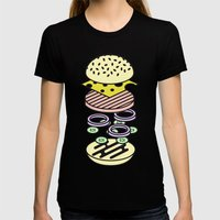 Burger Womens Fitted Tee Black SMALL