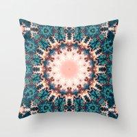 Abstract Fractal Sun Throw Pillow