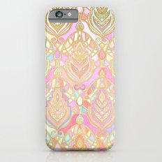 Rosy Opalescent Art Deco Pattern Slim Case iPhone 6s