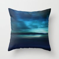 Blue Landscape Throw Pillow