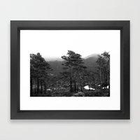 THE WOODS II Framed Art Print