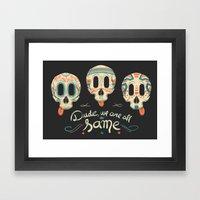 All the same Framed Art Print