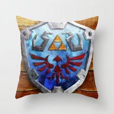 The Hylian Shield Throw Pillow