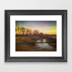 Steel Mill Sunrise Framed Art Print