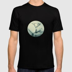 bubbles in teal Mens Fitted Tee Black SMALL