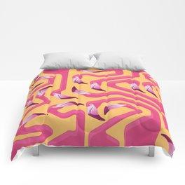 Comforter - Flamingo Maze - Iker Paz Studio