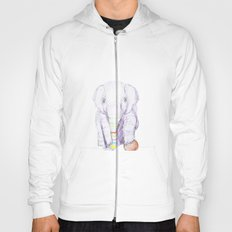 Striped Elephant Illustration Hoody