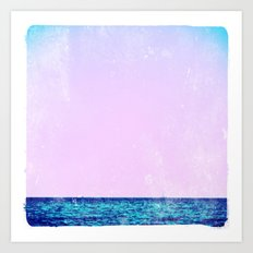 summer sail (lilac) Art Print