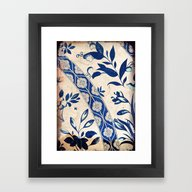 Blue Oriental Vintage Pa… Framed Art Print
