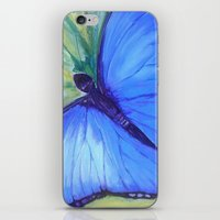 Blue Butterfly: Transfig… iPhone & iPod Skin